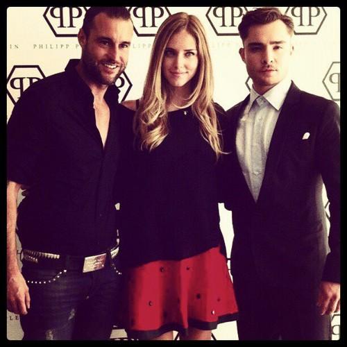 Ed Westwick - Milan Men's Fashion Week for Philipp Plein