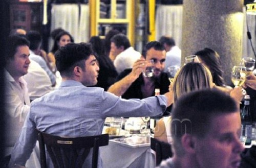 Ed at jantar with Philippr Plein in Milan