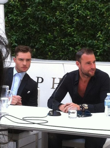 Ed at the Philipp Plein press conference