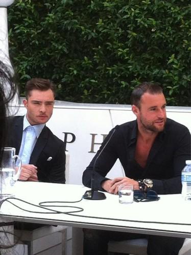 Ed at the Philipp Plein press conference