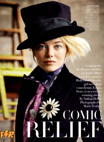 Emma Stone দ্বারা Mario Testino for Vogue US July 2012