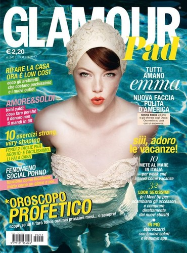 Emma Stone for Italian Glamour Cover July 2012 - emma-stone Photo