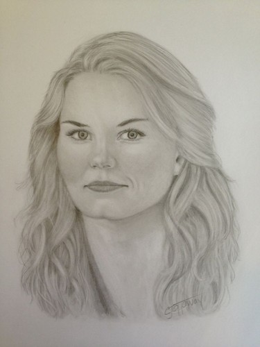 Once Upon A Time wallpaper possibly containing a portrait called Emma Swan Drawing