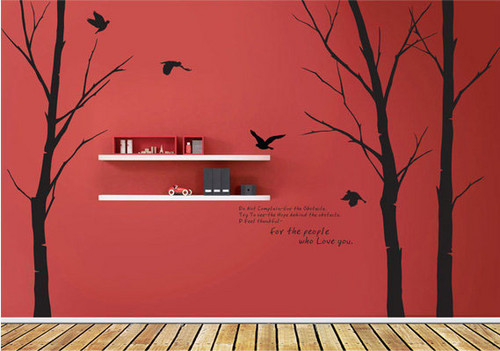For The People Who l'amour toi Winter arbre With Flying Birds mur Sticker
