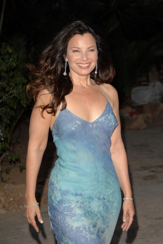 Fran Drescher karatasi la kupamba ukuta probably containing a bustier entitled Fran Drescher
