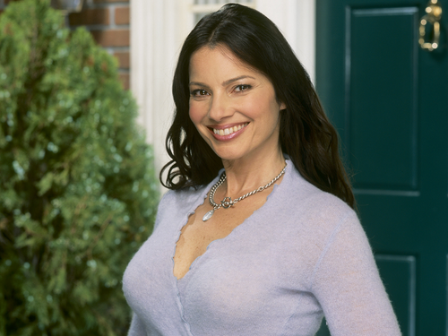 Fran Drescher karatasi la kupamba ukuta probably with a pullover and a portrait called Fran