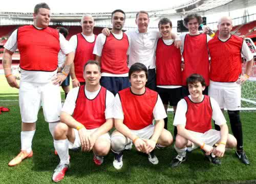 Freddie and Skandar Keynes sepakbola team