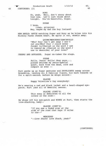 Full Script Scene: 3x12 Heart- Amore Shack 3 of 5