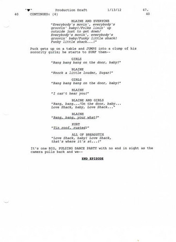 Full Script Scene: 3x12 Heart- cinta Shack 5 of 5