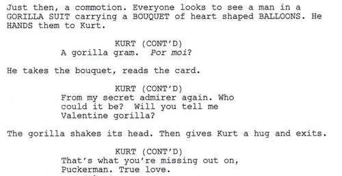Full Script Scene: 3x13 Heart- Gorilla Gram