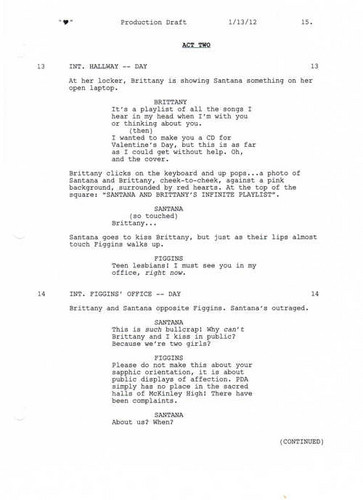 Full Scripted Scene: 3x13 coração - Brittana lockers and Figgins 3 of 3