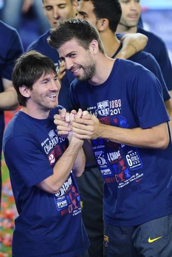 G. Pique & L. Messi