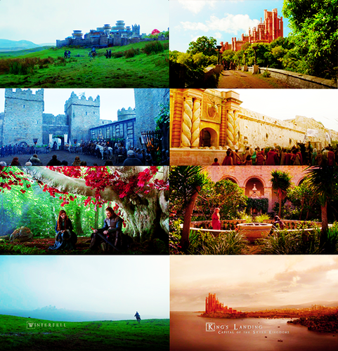 Winterfell and Kings landing