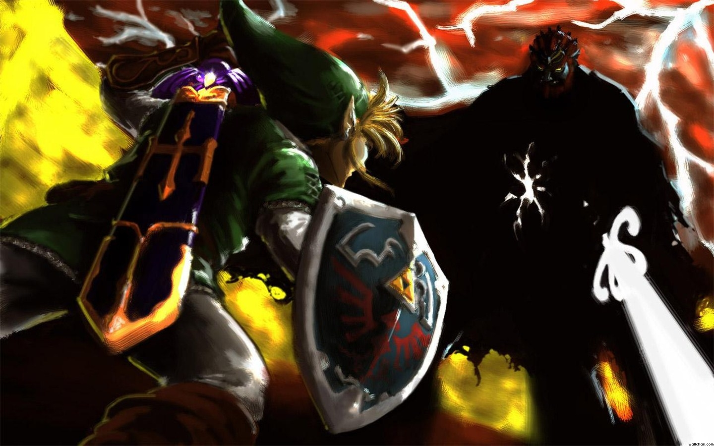 Ganondorf Images Vs Link Painted Wallpaper HD And Background Photos