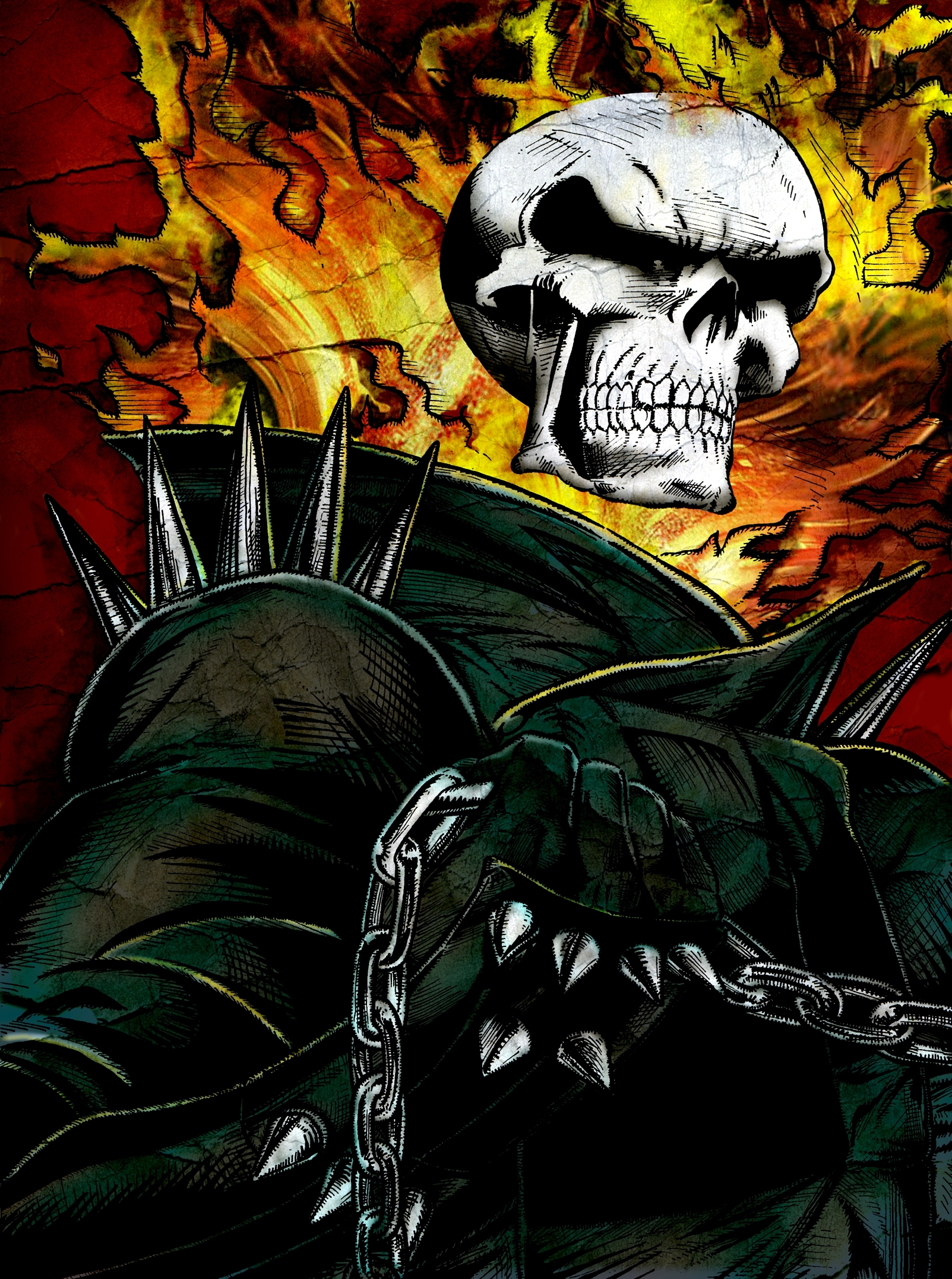 ghost rider images ghost rider by noelevz hd wallpaper and