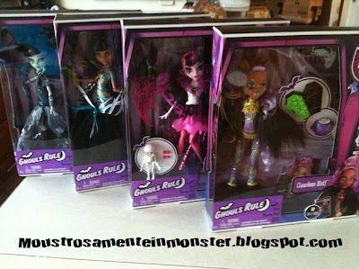 Ghouls Rule dolls in boxes