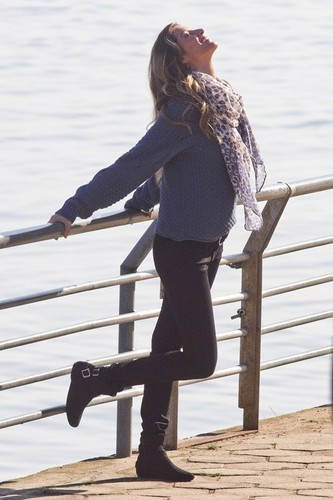 Gisele Bundchen at a photo shoot for C&amp;A Clothing Line in Brazil - gisele-bundchen Photo