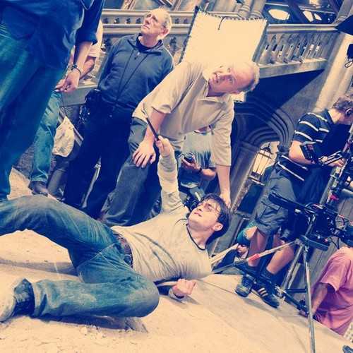 HP and Deathly Hallows BTS Photo - daniel-radcliffe Photo