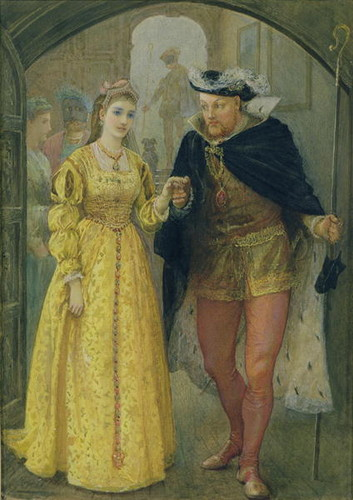 Anne Boleyn fond d'écran possibly with a polonaise entitled Henry VIII and Anne Boleyn