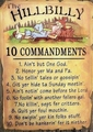 Hillbilly Ten Commandments - christianity photo