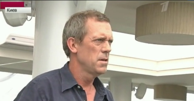 Hugh Laurie Interview for 1tv.ru