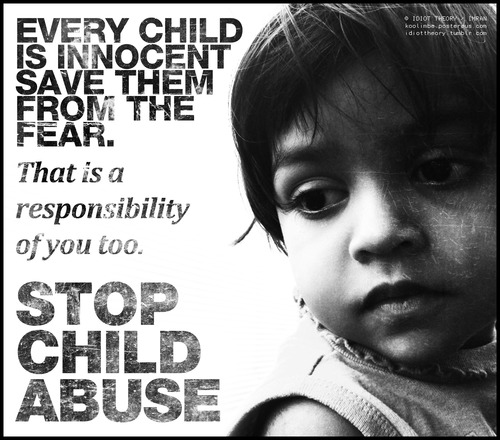 Can t stop it stop child abuse photo