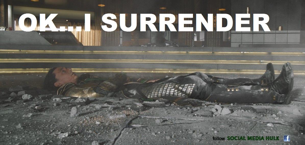 I surrender...