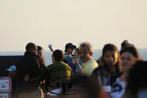 Nina Dobrev wallpaper titled Ian & Nina in Santa Monica
