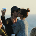 Ian/Nina kissing  - ian-somerhalder-and-nina-dobrev photo