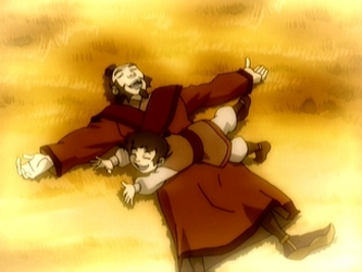 Iroh and young Lu Ten