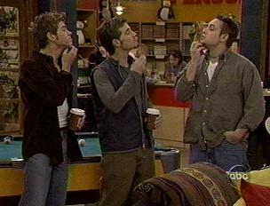 Boy Meets World wallpaper probably containing a cellar, a Leggere room, and a warehouse titled Jack, Shawn and Eric