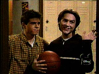 Boy Meets World wallpaper possibly containing a basketball, a dribbler, and a basketball player called Jack and Eric