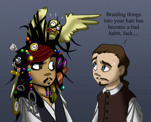 Jack's hair - captain-jack-sparrow Fan Art