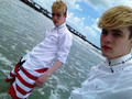 Jedward at the beach