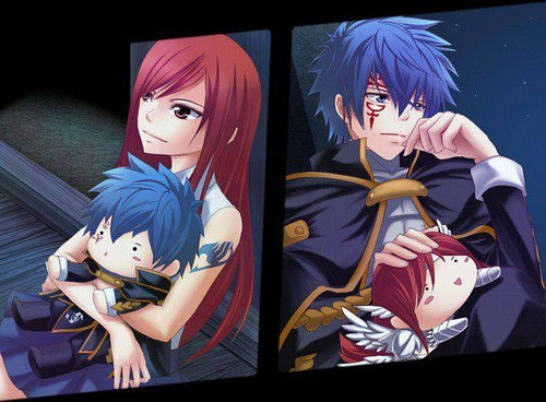fairy tail wallpaper entitled Jellal & Erza ♥