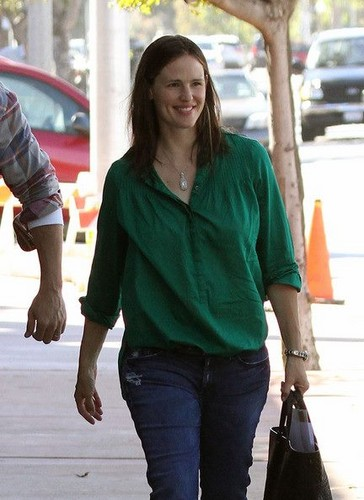 Jen and Ben were out and about with baby Samuel