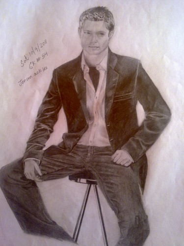 Jensen Ackles wallpaper with a well dressed person and a business suit entitled Jensen Ackles's sketch