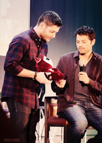 Jensen, Misha and Plushie!