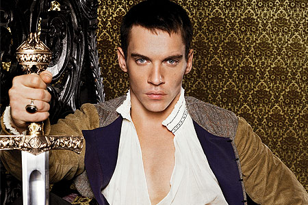 Tudor History wallpaper probably with a machete, a falchion, and a street entitled Jonathan Rhys Meyers as Henry VIII