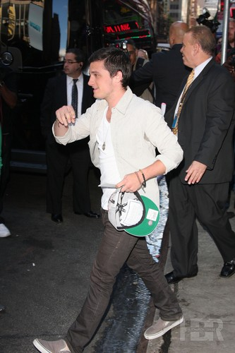 Josh outside GMA