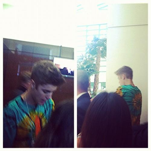 Justin on Radio Disney!