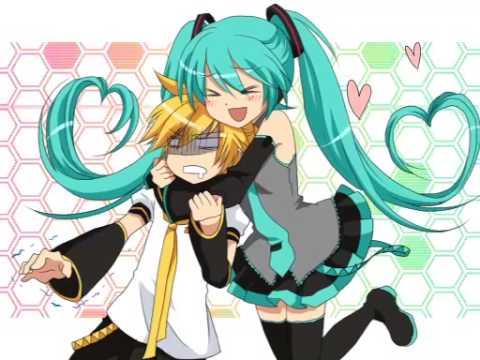 Kagamine Len and Hatsune Miku