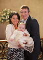 Kat and Alfie with their son Tommy - eastenders photo