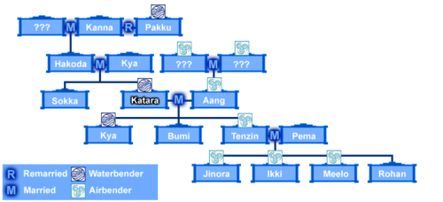 Avatar: The Last Airbender wallpaper titled Katara's family tree