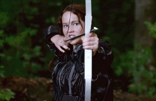 Katniss Shooting an Arrow