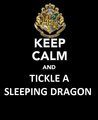 Keep Calm And Tickle A Sleeping Dragon