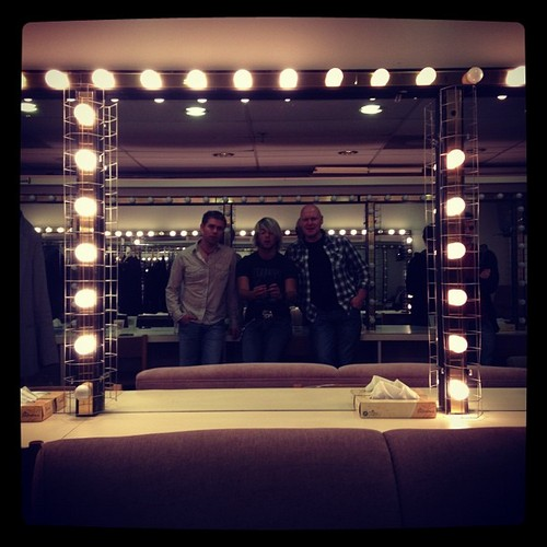 Keith, Neil and George in the dressing room