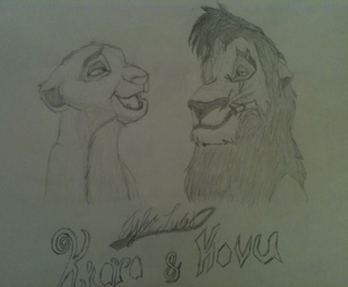 lionkingT wallpaper possibly with anime called Kiara & Kovu