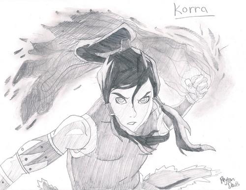 Korra Characters Drawn by me Peyton Davis