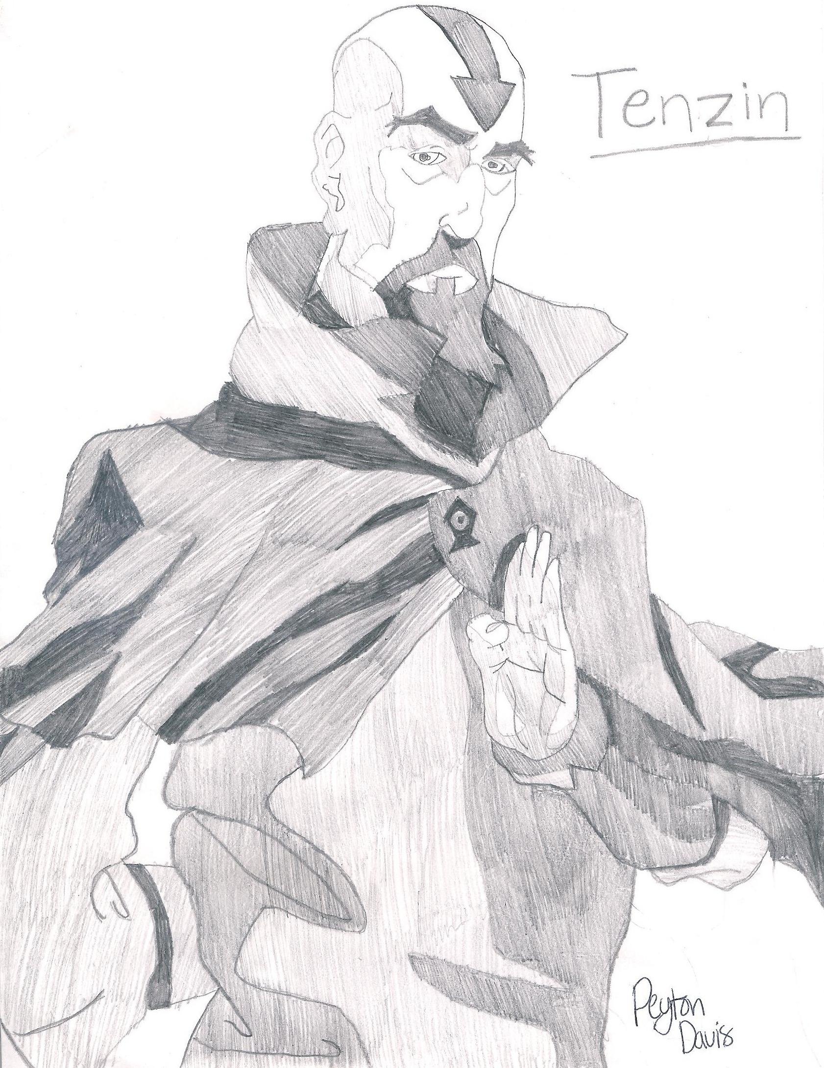 Korra Characters Drawn sa pamamagitan ng me Peyton Davis